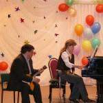 Черных Б.П. и Логинова Н.И. на Фестивале балалайки 2008 г.